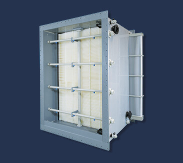 Kunststoff-Gas-Wasser-Wärmetauscher